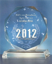 Bill's On Broadway 2012 Best Of Columbus Award