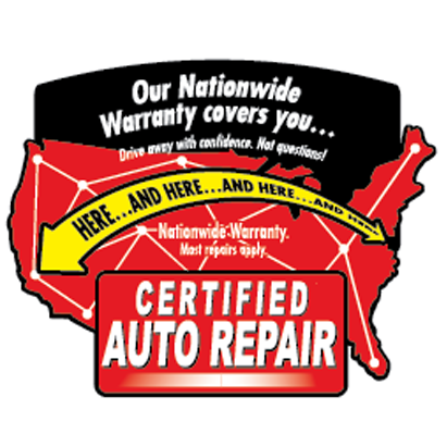 Certified Auto Repair 36 month 36,000 mile warranty